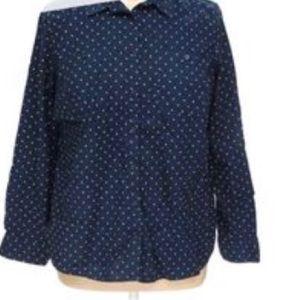 St. John's Bay blouse polka dot plus size 3X